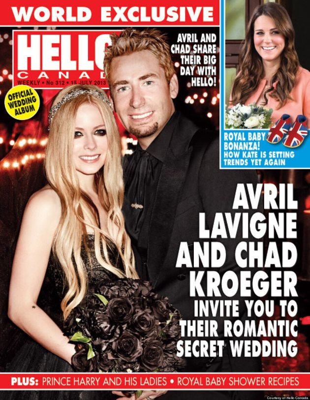 Avril Lavigne's Wedding Dress Is Black And Fabulous