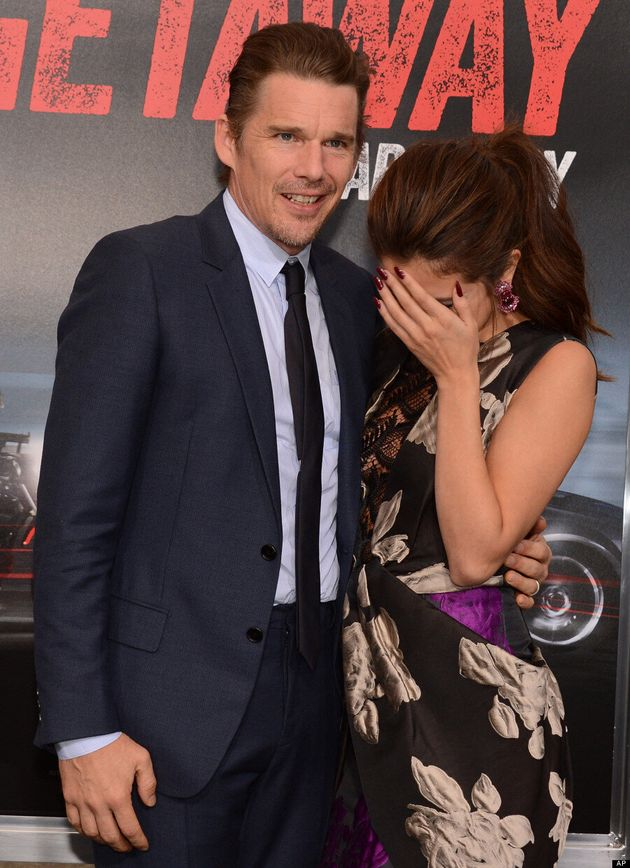 Selena Gomez Is Shy On The 'Getaway' Red Carpet With Ethan Hawke (VIDEO,
