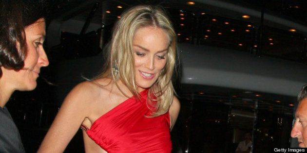 Cannes 2013 Thigh-High Slit Trend: Sharon Stone, Olivia Palermo Wear Revealing Looks