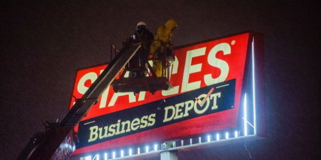 Staples Sign Kills Toronto Woman As Sandy's Winds Slam