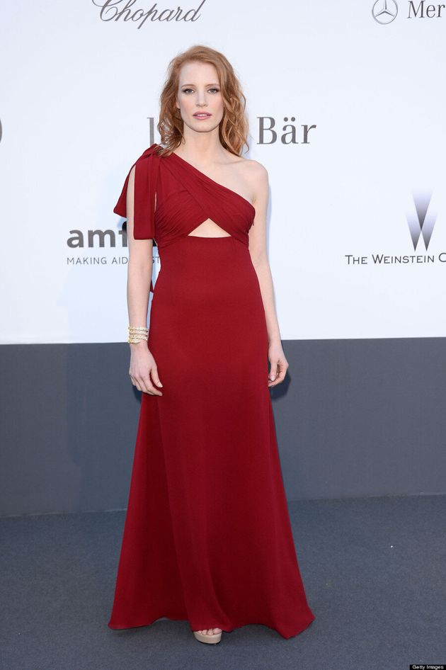 Jessica Chastain's Cannes 2013 Dress Channels Jessica Rabbit, Shows Underboob
