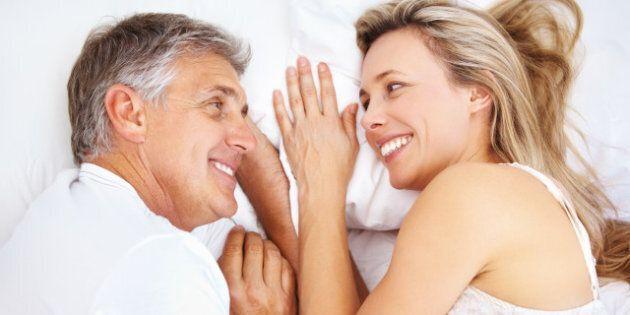 closeup of mature couple...
