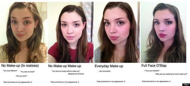 Makeup Experiment: Girl Posts Surprising Reactions To Her Appearance