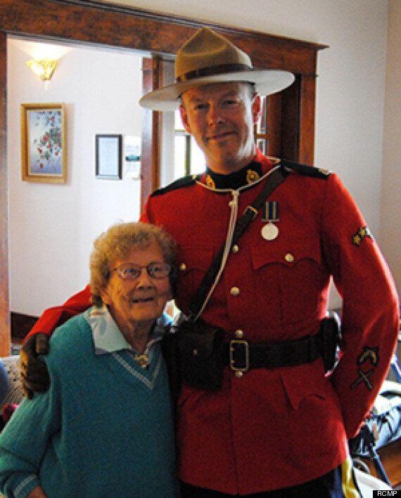Jenny Stewart's Mountie Dream Comes True 78 Years