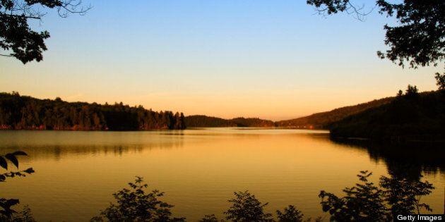 Sunset at Meech lake in Gatineau
