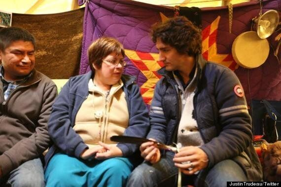 Justin Trudeau Visits Theresa Spence, Attawapiskat Chief On Hunger Strike For Idle No More