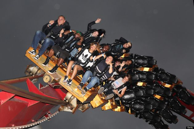 Rihanna Rollercoaster Style: Chris Brown's Ex Takes In Amusement Park