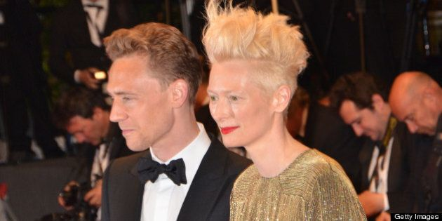 CANNES, FRANCE - MAY 25:  Tom Hiddleston and Tilda Swinton attend the Premiere of 'Only Lovers Left Alive' during the 66th Annual Cannes Film Festival at the Palais des Festivals on May 25, 2013 in Cannes, France.  (Photo by Foc Kan/FilmMagic)