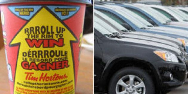 Roll Up The Rim Prizes 2013: Tim Hortons Contest Includes Toyota RAV4s, Cash Cards