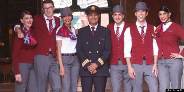 Air Canada Rouge Uniforms: New Low-Cost Airline Makes Its Debut