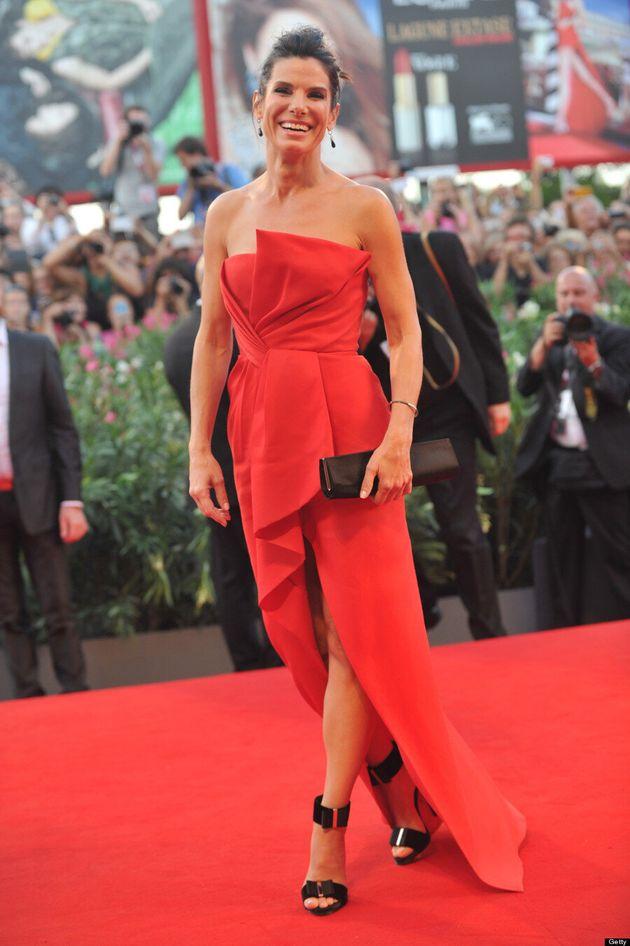 Sandra Bullock's Venice Film Festival Dress Defies Gravity