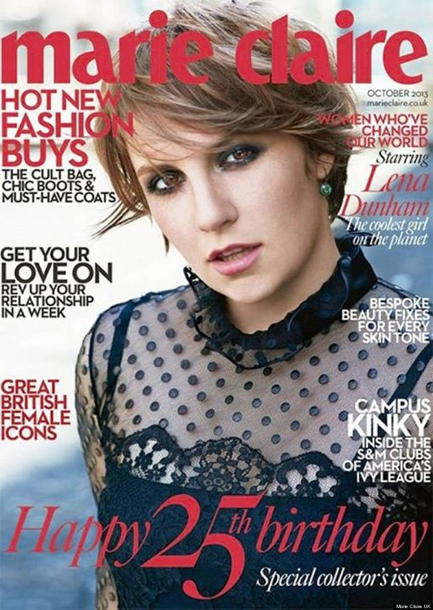 Lena Dunham's Marie Claire UK Cover Is Both Glamorous And Gorgeous