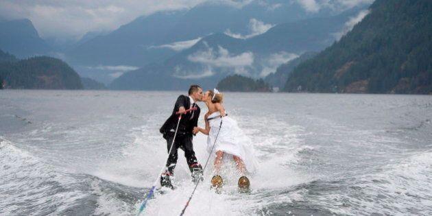 Waterski Wedding Photo A Splash For B.C.