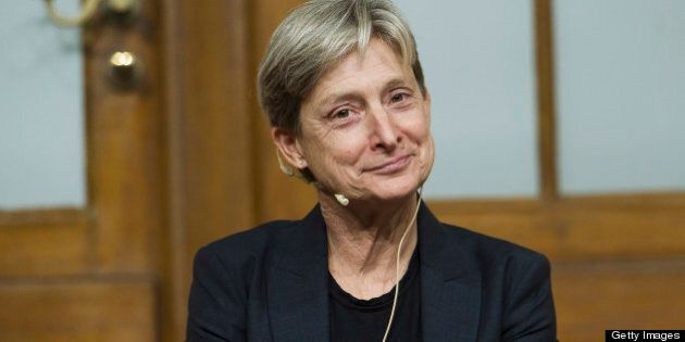 BERLIN, GERMANY - SEPTEMBER 15:  Judith Butler poses for a photo at the Jewish Museum on September 15, 2012 in Berlin, Germany. Butler is a philosopher and professor awarded the Theodor W. Adorno Award this year. (Photo by Target Presse Agentur Gmbh/Getty Images)