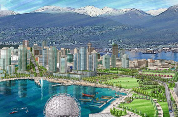 Outsider's View Of Proposed Vancouver Viaduct