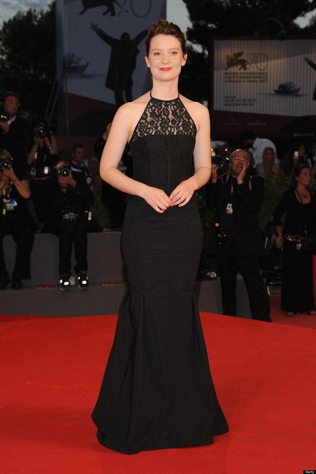Mia Wasikowska's 2013 Venice Film Festival Dress Channels The Little Mermaid (VIDEO,