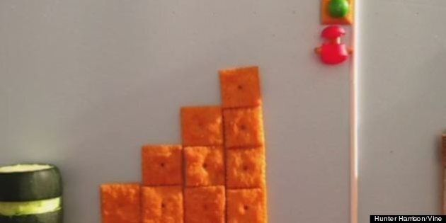 Super Mario Bros Vine Videos: Artist Hunter Harrison Uses Food To Recreate Classic