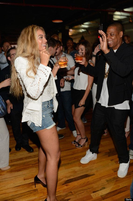 Beyonce And Jay-Z Dress Down For 'Magna Carta Holy Grail' Release Party