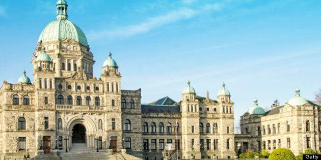 Parliament Building in Victoria, British