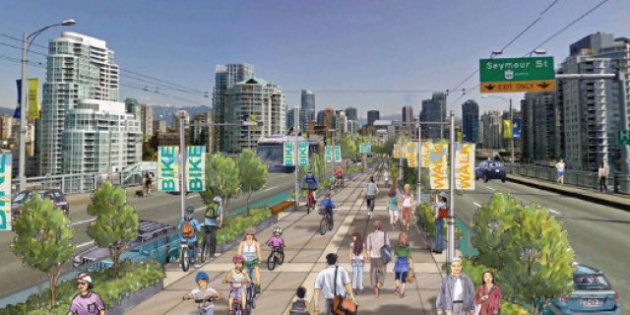 Vancouver Bike Lanes: Cambie, Granville Bridge Lanes