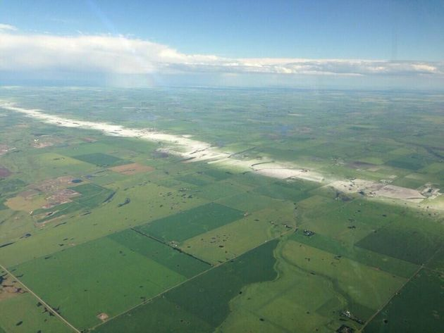 Airdrie Hailstorm Picture Shows Violent Path Of Violent Weather (PHOTO,