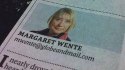 Margaret Wente A Plagiarist? Globe