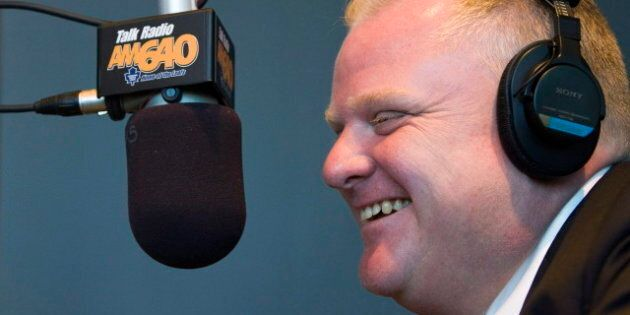 Rob Ford Criticizes Newstalk 1010 And Media During Newstalk 1010 Radio Show