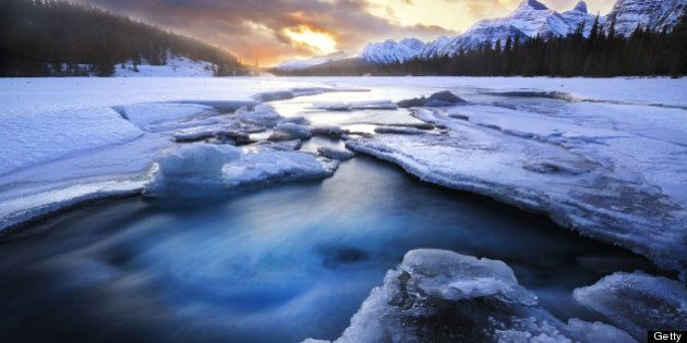 This photo was taken at Jasper national park of