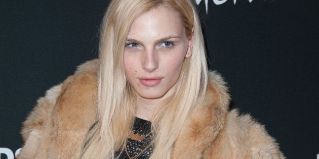 NEW YORK, NY - FEBRUARY 10:  Trangender Model Andrej Pejic attends the DSQUARED And Interview Party at Copacabana on February 10, 2013 in New York City.  (Photo by Dave Kotinsky/FilmMagic)