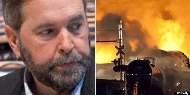 Thomas Mulcair's Lac-Megantic Comments: NDP Leader Denies He Linked Disaster To