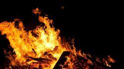 Suspicious Fire Unearths Human