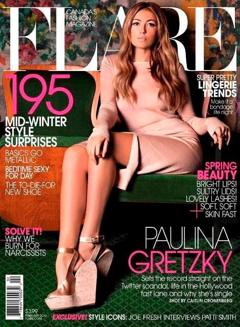 Paulina Gretzky Looks Amazing In Head-To-Toe Nude On FLARE Magazine Cover