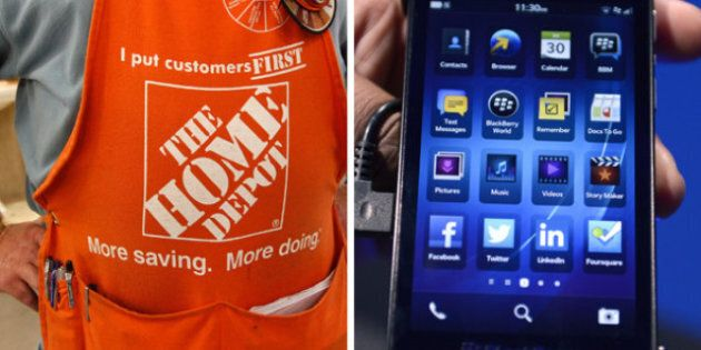 BlackBerry Stock Price Drops As Home Depot Switches To