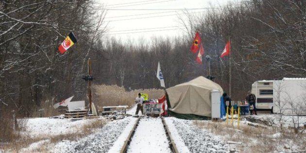 Idle No More Sarnia CN Rail Blockade Ordered Taken Down By