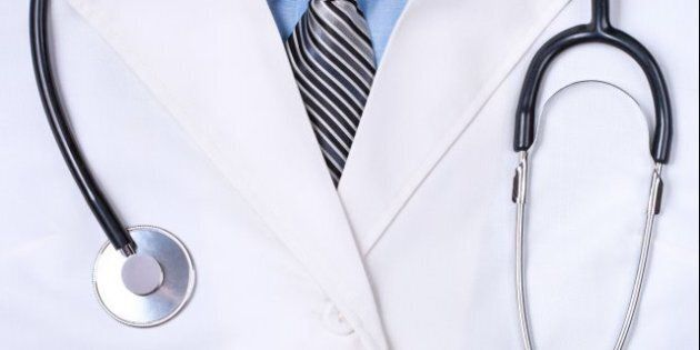 doctors lab white coat with...