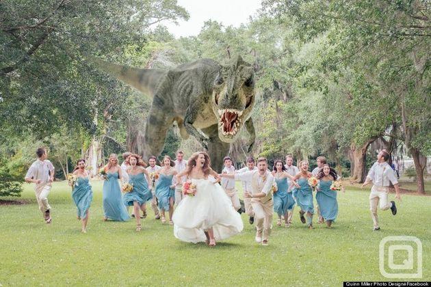 J. Quinn Miller T-Rex Wedding Photography: Artist, Couple Get Creative