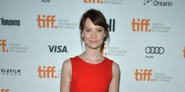 TORONTO, ON - SEPTEMBER 05: Actress Mia Wasikowska attends the 'Only Lovers Left Alive' premiere during...