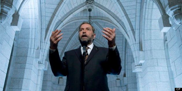 Mulcair Targets Trudeau, NDP Looks To Reverse Poll