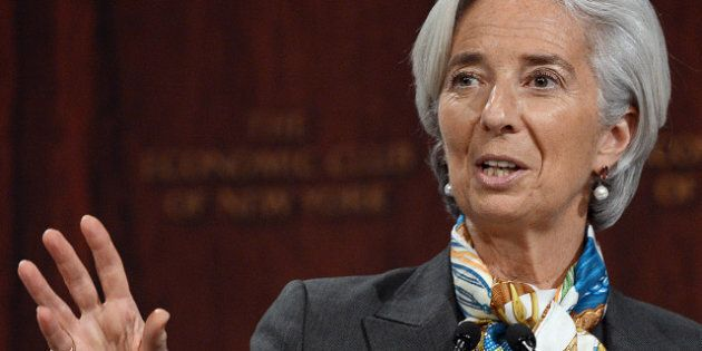 International Monetary Fund Managing Director Christine Lagarde speaks on 'Global Policy Actions to get...