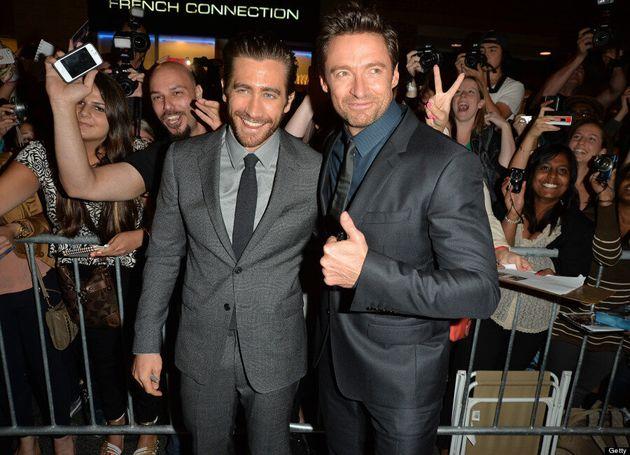 Hugh Jackman TIFF 2013: Wolverine Pals Around With Jake Gyllenhaal At 'Prisoners' Red Carpet