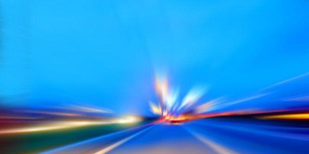 speed motion on night