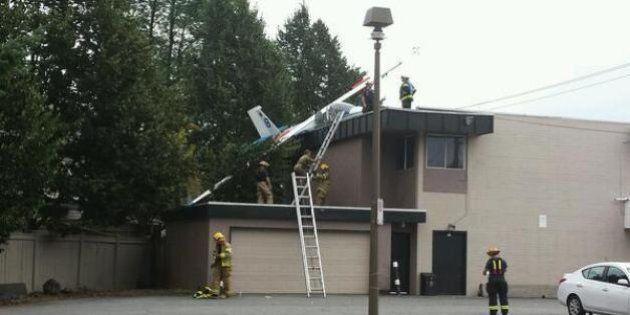 Langley Glider Crash: Plane Lands On Top Of