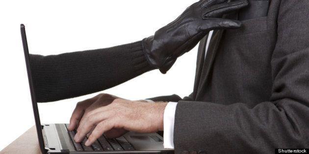 internet theft a gloved