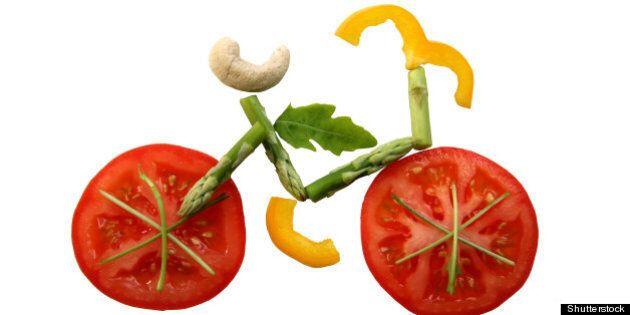 sliced vegetables in form of a...