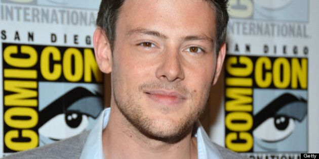 SAN DIEGO, CA - JULY 14: Cory Monteith attends the 'GLEE' Press Room during Comic-Con International 2012...