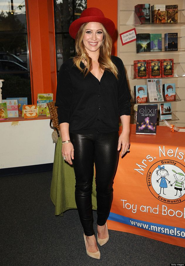Hilary Duff Not Your Average Mom: 'Lizzie McGuire' Star Rocks Leather Pants At Book Signing