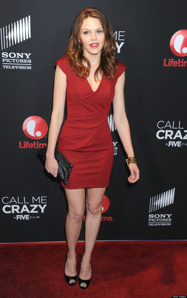 'Friday Night Lights' Actress All Grown Up: Aimee Teegarden Poses At 'Call Me Crazy' Premiere
