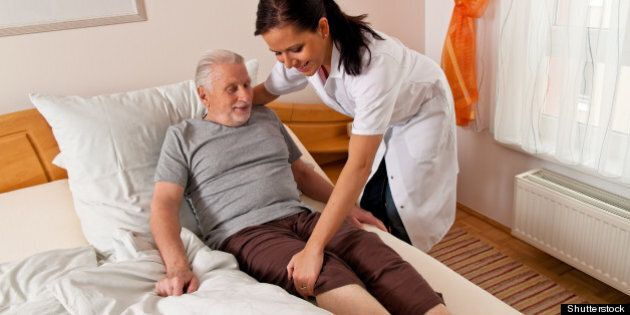 a nurse in elderly care for the ...