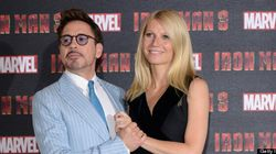 Gwyneth Paltrow Gets A Kiss From Robert Downey
