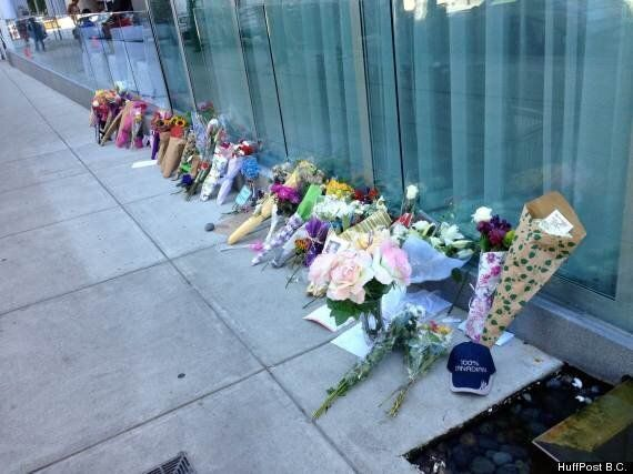 Cory Monteith Memorial Outside Vancouver Hotel